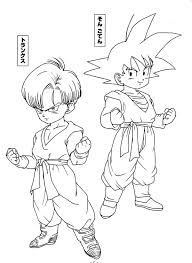 trunks coloring page free download