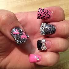 black and white nails cheetah nail designs easy nail art designs