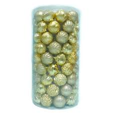 home accents 2 3 in shatter proof ornament gold 101