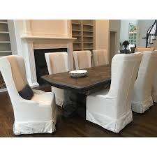 white slipcover dining chair safavieh en vogue dining deco bacall ivory slip cover dining chair