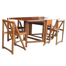 Folding Table With Chairs Stored Inside Drop Leaf Table With Chair Storage Charming Drop Leaf Table With