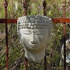 designer stone buddha head planter hayneedle