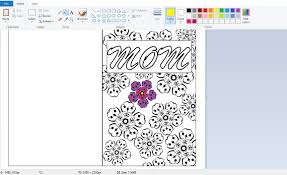 mother u0027s day coloring page card diy printables 4 mom