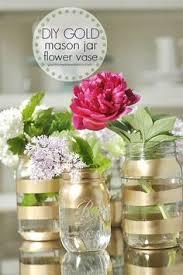 Mason Jar Vases Wedding How To Make Glitter Mason Jars Pink And Gold Wedding Centerpiece