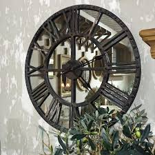 large vintage wall clock mirror round clock shabby chic the