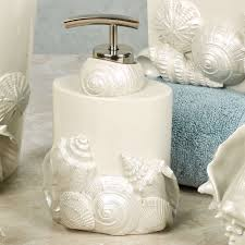 Beachy Bathroom Accessories by Seaside Seashell Coastal Bath Accessories