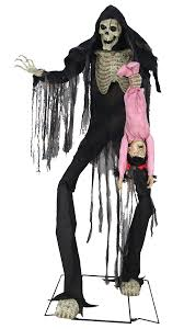 animated halloween prop lifesize 7 u0027 towering boogey man w kid
