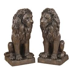 lion statues pair of sitting bronze lion statues irongate garden elements