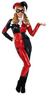 harley quinn jumpsuit amazon com secret wishes dc harley quinn deluxe jumpsuit