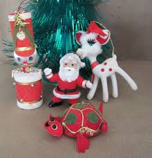 Character Christmas Ornaments Vintage Christmas Ornaments 1960s Japan Christmas Ornament