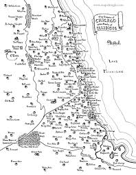 Map Of Chicago Illinois by Fantasy Map Of Chicago