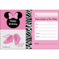 Free Printable Minnie Mouse Invitation Template by Printable Minnie Mouse Birthday Invitations Free