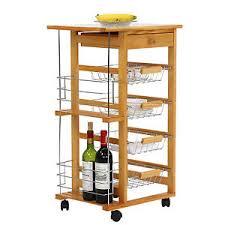 kitchen cart and island kinbor rolling wood kitchen trolley cart island shelf storage drawer