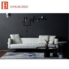 boutique de canapé vente chaude salon moderne meubles blanc véritable canapé en cuir