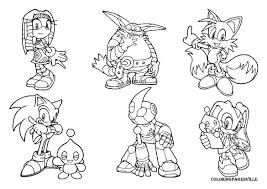 cool design sonic and friends coloring pages 13 21 sonic the