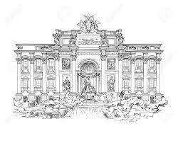 rome famous landmark trevi fountain sightseeing of italy royalty
