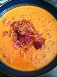 Creamy Roasted Garlic Bacon & Tomato Bisque
