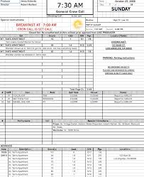 Call Sheet Template Forms Method