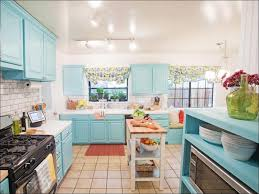 kitchen turquoise and yellow curtains modern cafe curtains blue
