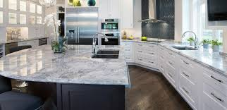 interior silver cloud granite countertops with river bordeaux