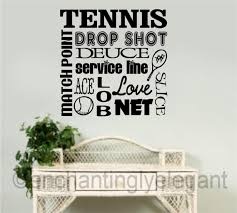 Bedroom Wall Letter Stickers Tennis Vinyl Decal Wall Sticker Words Lettering Teen Room Sports