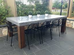 concrete and wood outdoor table concrete outdoor table concrete tables beautiful design concrete