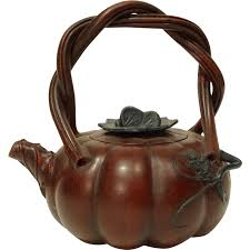 shaped teapot vintage yiking pumpkin shaped teapot in zisha clay from