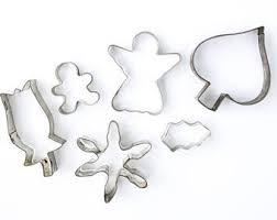 santa and reindeer metal cookie cutters set of 2 meri meri