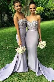 grey bridesmaid dresses mermaid light grey sweetheart appliques beaded bridesmaid