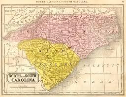 Nc Coast Map Map North And South Carolina Georgia Map
