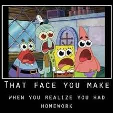 Spongebob Homework Meme - school memes 101 memes hilarious memes and hilarious