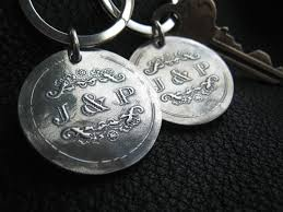 sterling key rings images Handmade sterling silver key chain key ring key fob with wedding jpg
