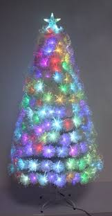 180cm transparent fiber optic tree with colorful lights and treetop