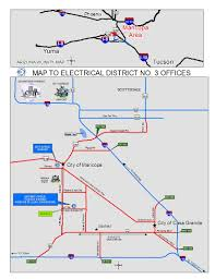 Arizona City Map by Our Location Electrical District 3