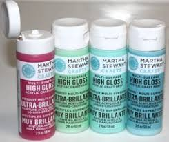 martha stewart crafts gloss paint painting crafts division of