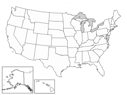 united states map blank with outline of states outline map usa with state borders enchantedlearningcom us states
