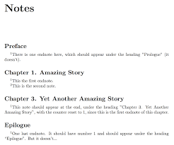 chapter name appearing in the endnotes tex latex stack exchange
