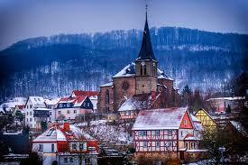 photo germany lengenfeld unterm stein thuringia winter snow cities