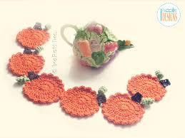 tea time pumpkin coasters free pdf crochet pattern irarott inc