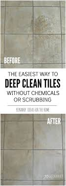 clean tile floors easily without chemicals or scrubbing tile