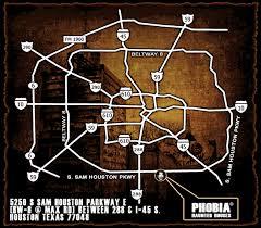 houston event map phobia haunted houses 7 haunts 1 killer location houston tx