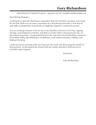 cover letter for warehouse warehouse operative cover letter