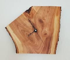 Wohnzimmer Uhren Holz Sehr Edle Holz Wanduhr Baumscheibe Kirsche Massiv Holz Handarbeit