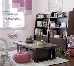 playroom table with storage storage bookshelf land of nod oak park elementary home interiors