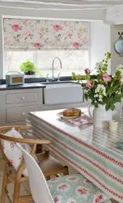 Fabric For Kitchen Curtains Small Kitchen Update Modern Retro Material For Roman Shades