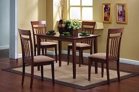 Wood Dining Room Tables And Chairs by Amazon Com Coaster 5 Piece Dining Set In Chestnut Finish Table