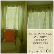 Burlap Ruffle Curtain Decorating Make Your Home More Beautiful With Burlap Curtains For