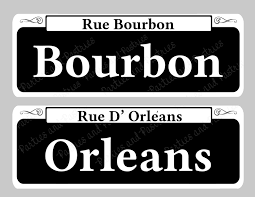 bourbon sign new orleans signs instant table signs set of 10
