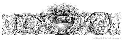 illustration showing an ornamental headpiece vignette with