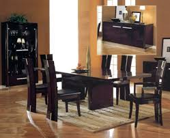dining room white dining room set with leather dining chairs with